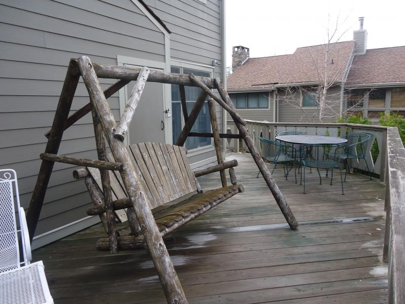 This deck needs a power wash, but it looks great in person.